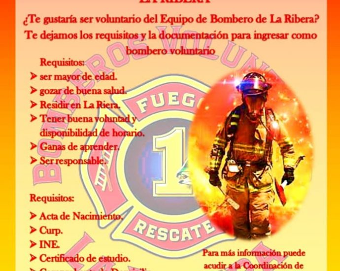 La Ribera Fire Dept Recruiting Poster